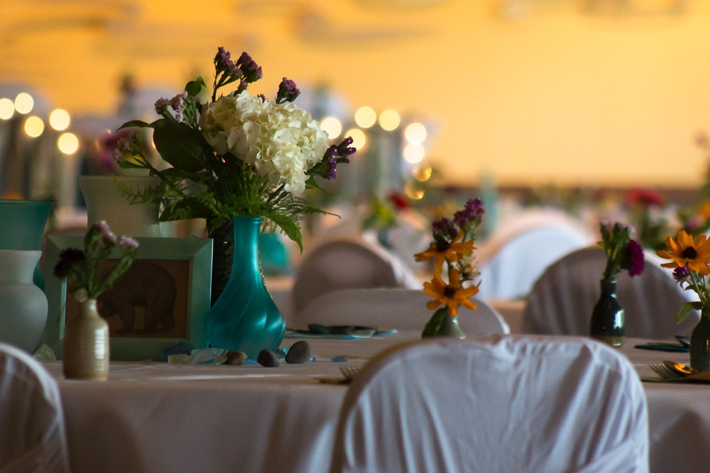 Table Settings at Harbor View Event Center